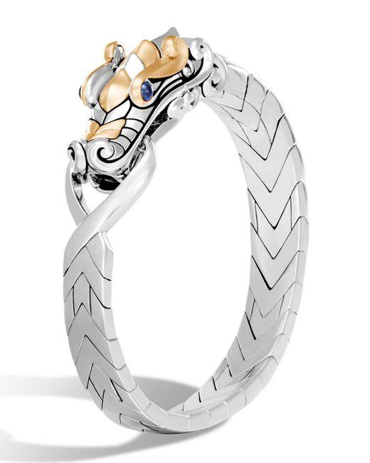 John Hardy   Metallic Men's Legends Naga Dragon Sterling Silver & 18k Gold Chain Bracelet   Lyst
