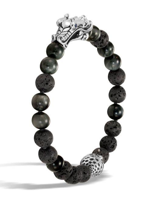 John Hardy | Black Men's Legends Naga Dragon Bead Bracelet for Men | Lyst