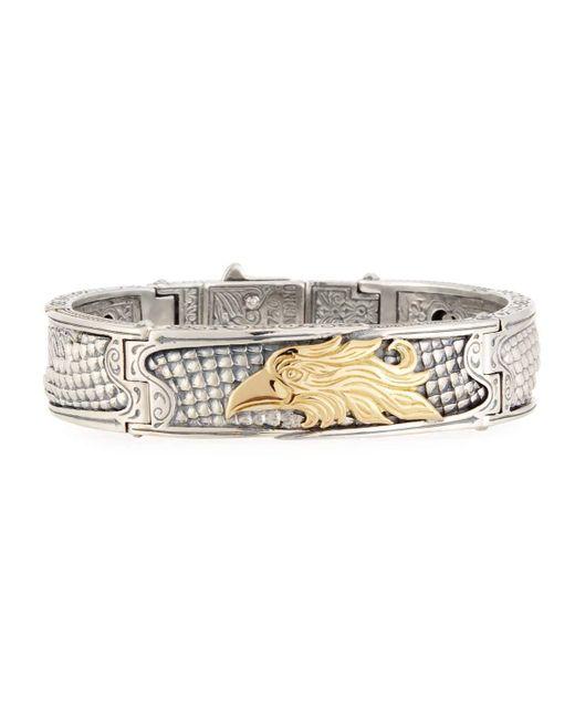 Konstantino | Metallic Heonos Men's Sterling Silver/gold Eagle Hinge Bracelet for Men | Lyst