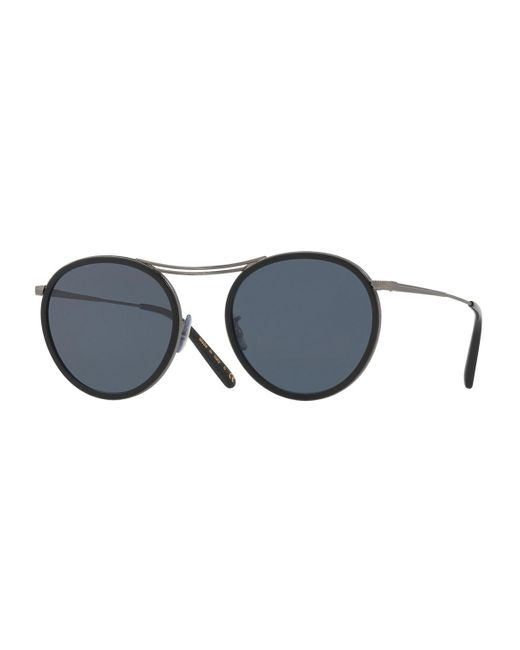 Oliver Peoples | Black Mp-3 30th Round Sunglasses | Lyst