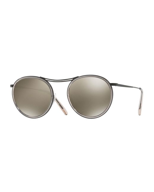 Oliver Peoples | Natural Mp-3 30th Anniversary Round Sunglasses | Lyst