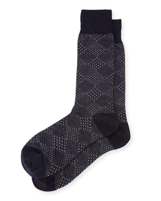 Neiman Marcus | Blue Pin-dot Diamond Wool Socks for Men | Lyst