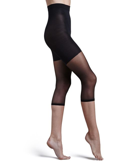Spanx - Black In-power Line Super Footless Shaper Tights - Lyst