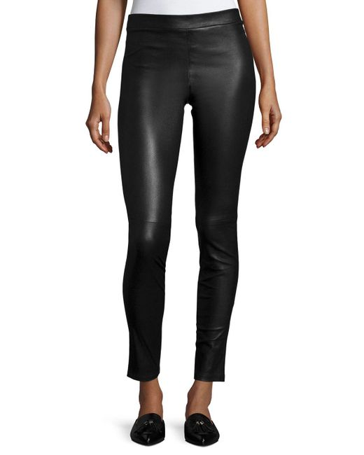 Theory - Black Adbelle L2 Bristol Leather Leggings - Lyst