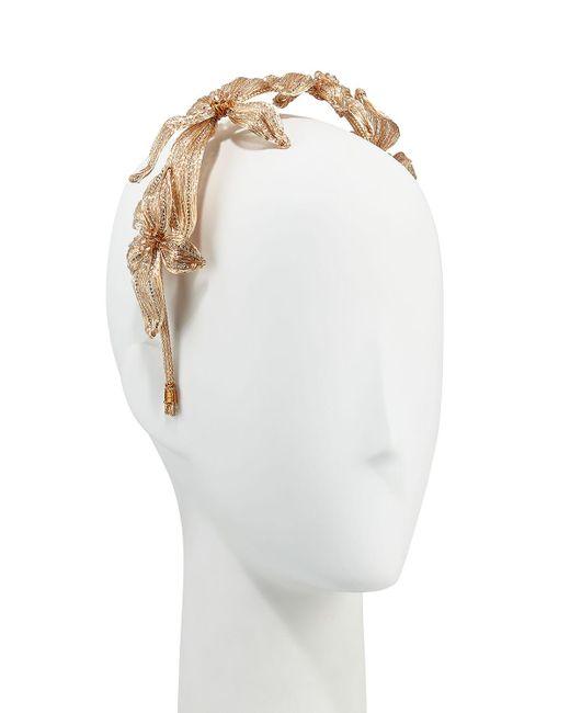 Colette Malouf | Metallic Mesh Crystal Botanical Headband | Lyst