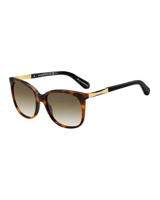 Kate Spade - Brown Julieanna Round Sunglasses - Lyst