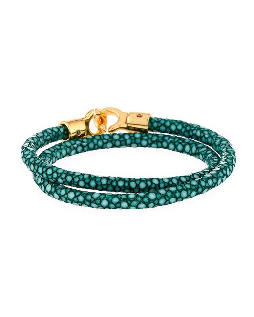 Brace Humanity - Men's Brunswick Stingray Wrap Bracelet Dark Green for Men - Lyst