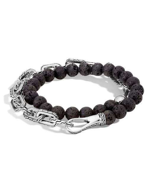 John Hardy | Black Men's Batu Double-wrap Bead Bracelet for Men | Lyst