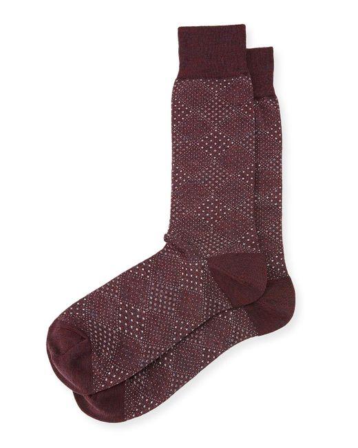 Neiman Marcus - Red Pin-dot Diamond Wool Socks for Men - Lyst