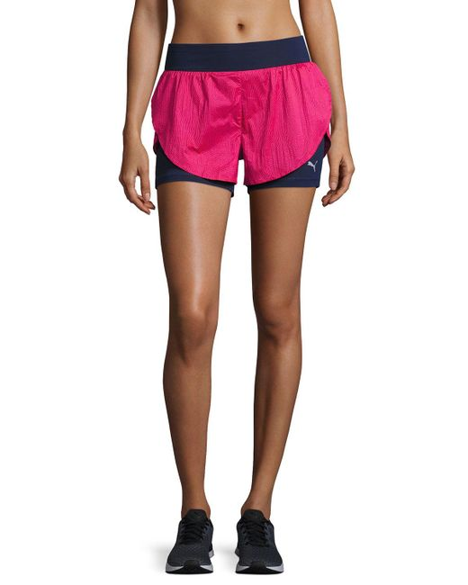 PUMA - Pink Culture Surf 2-in-1 Athletic Shorts - Lyst