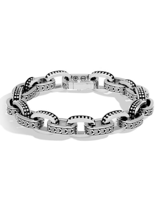 John Hardy - Metallic Men's Classic Chain Link Jawan Sterling Silver Bracelet for Men - Lyst