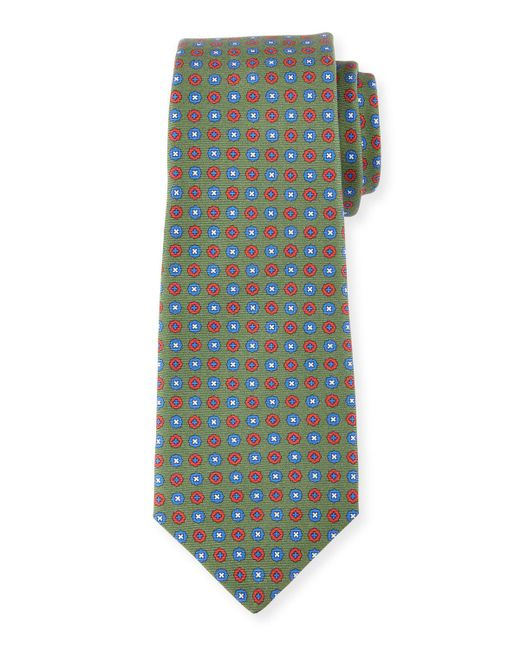 Kiton - Gray Neat Circle-medallion Printed Silk Tie for Men - Lyst