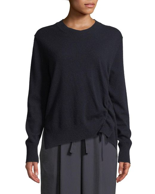 Vince - Multicolor Cinched-side Crewneck Cashmere Sweater - Lyst
