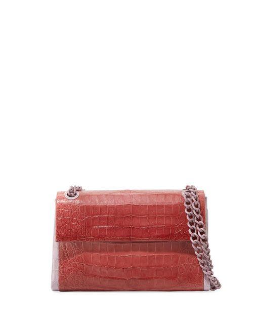 Nancy Gonzalez - Red Madison Colorblock Croc Double-chain Shoulder Bag - Lyst