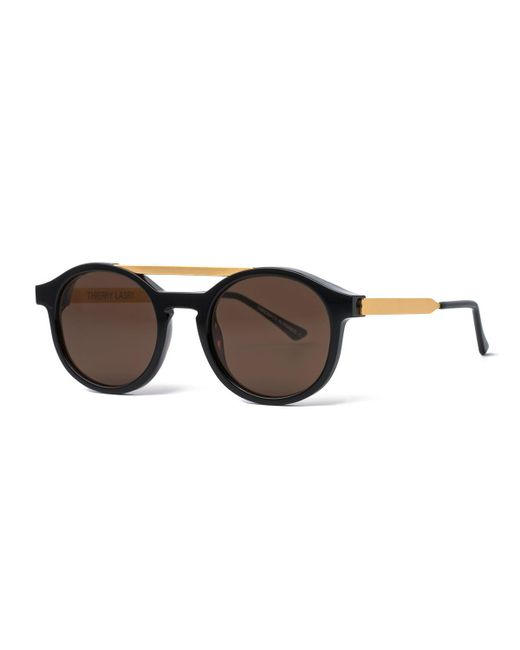 Thierry Lasry | Black Fancy Round Brow-bar Sunglasses | Lyst