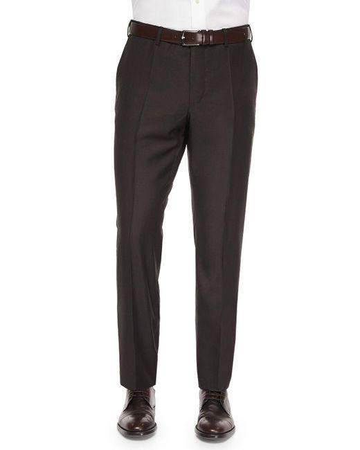 Incotex - Brown Benson Sharkskin Wool Trousers for Men - Lyst