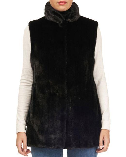 Gorski - Black Mink-fur & Silk Taffeta Reversible Vest - Lyst