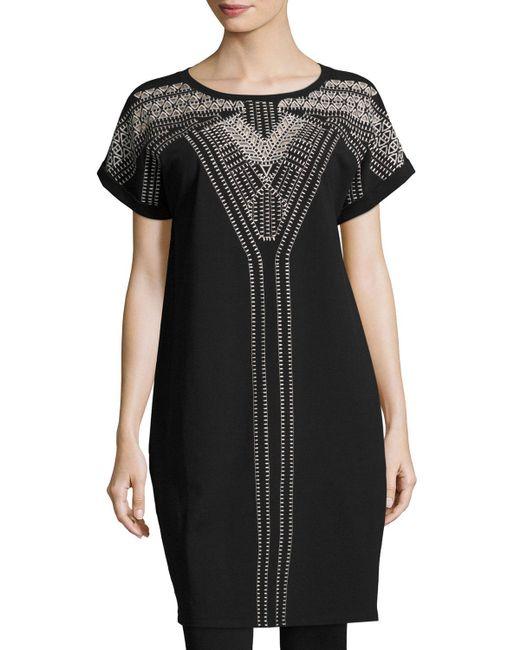 NIC+ZOE - Black Havana Nights Tunic Dress - Lyst