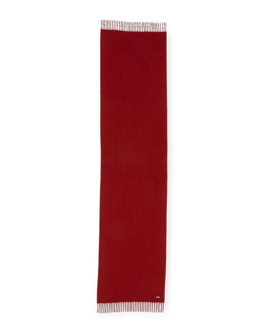 Loro Piana - Red Cashmere Sciarpa Grande Fringe-trim Scarf - Lyst