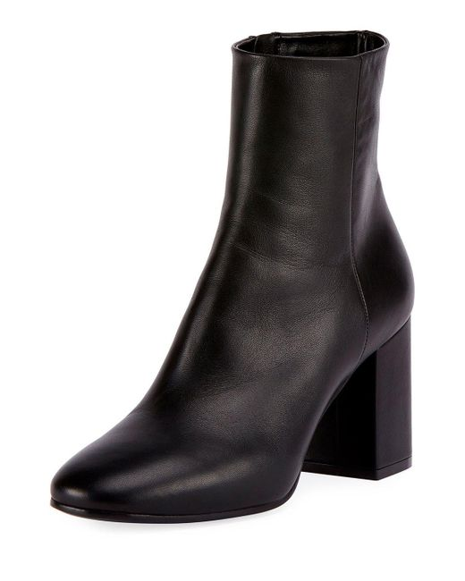 Balenciaga Leather Block Heel Ankle Boot In Black Lyst