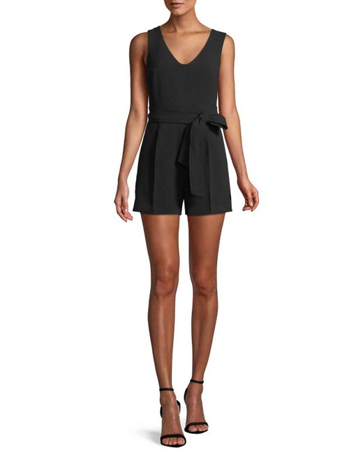 Club Monaco - Black Madria Belted Sleeveless Romper - Lyst
