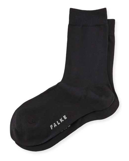 Falke - Black Cotton Touch Ankle Socks - Lyst