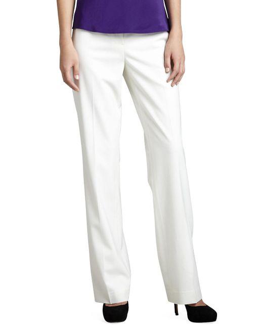 Lafayette 148 New York - Blue Menswear Straight-leg Stretch-wool Pants - Lyst