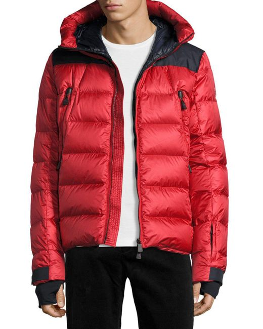 lyst moncler grenoble camurac down ski jacket in red for men. Black Bedroom Furniture Sets. Home Design Ideas