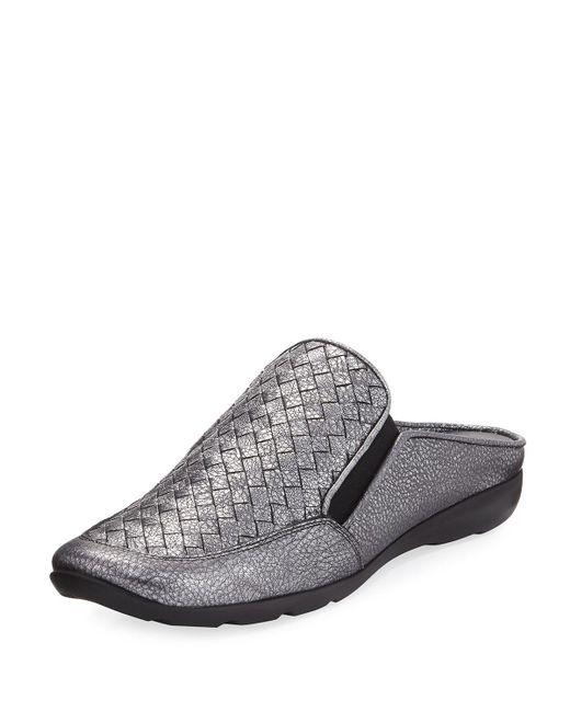 Sesto Meucci - Gray Giana Woven Leather Mule - Lyst