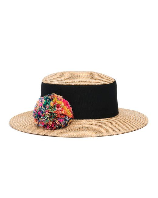 Eugenia Kim | Multicolor Brigitte Straw Boater Hat | Lyst