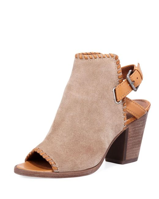 Frye - Natural Dani Shield Whipstitch Booties - Lyst