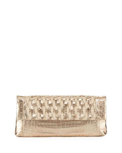 Nancy Gonzalez - Metallic Gotham Woven Straw Clutch Bag - Lyst