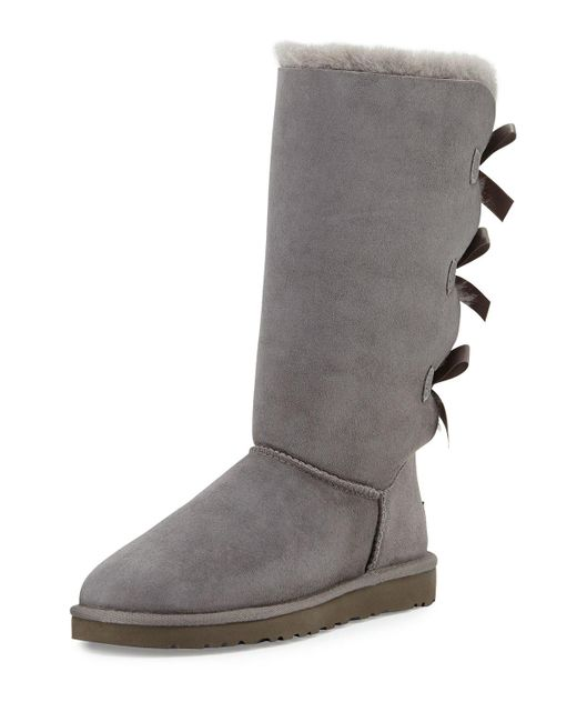 Ugg | Brown Bailey Tall Bow-back Boot | Lyst