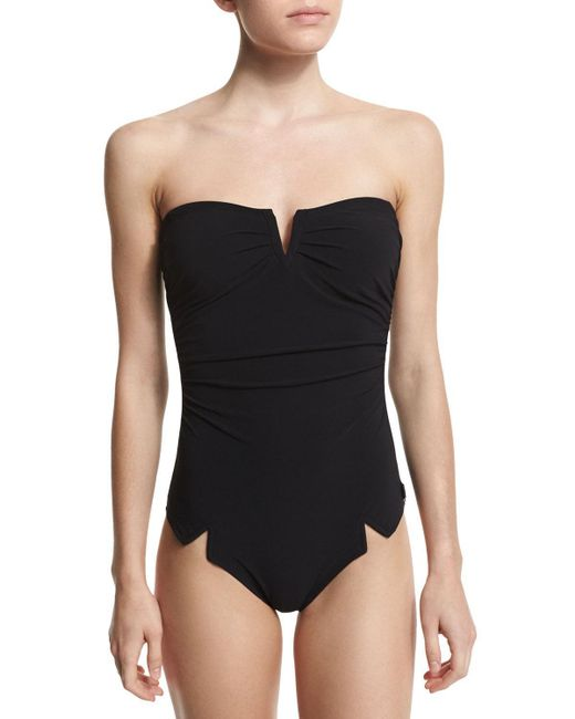 Shan - Black Serena Solid One-piece Swimsuit - Lyst