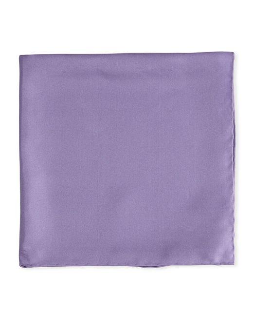 Psycho Bunny - Purple Solid Silk Twill Pocket Square for Men - Lyst