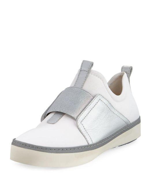 Stuart Weitzman - White Wayfare Neoprene Two-tone Sneaker - Lyst