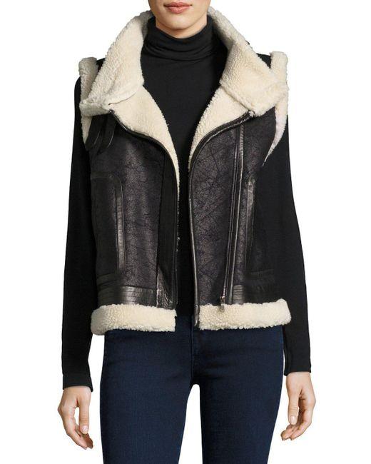 Joie | Black Danay Fur Vest | Lyst