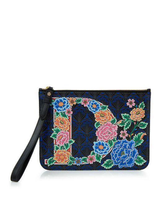 Liberty | Blue Alphabet Iphis-print Wristlet Bag | Lyst