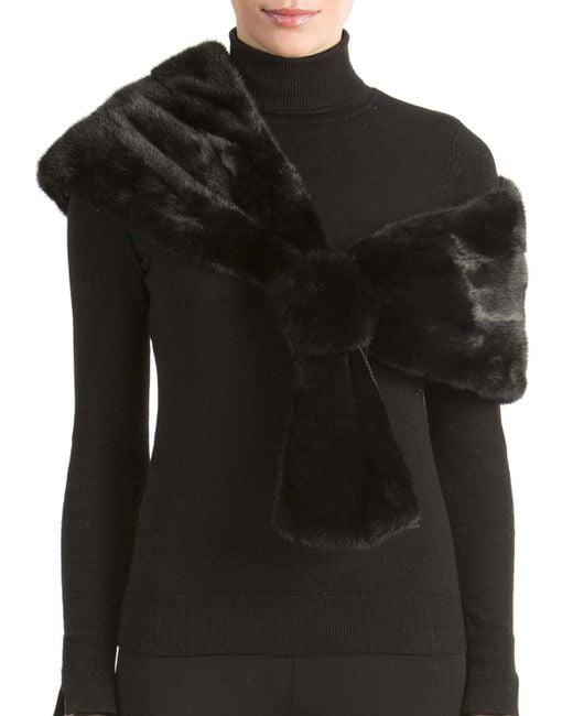 Gorski - Black Mink Fur Stole - Lyst