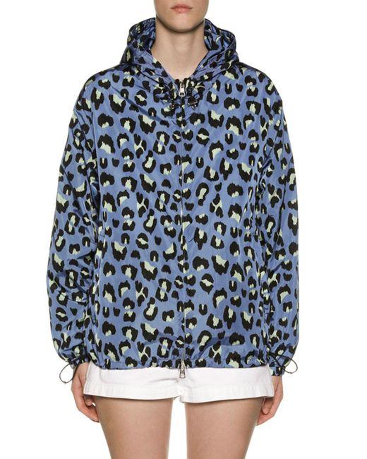 7efba113d Women's Blue Alexandrite Leopard Print Technical Jacket