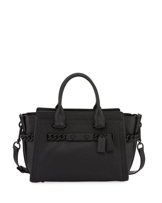 COACH | Black Swagger 27 Leather Satchel Bag | Lyst