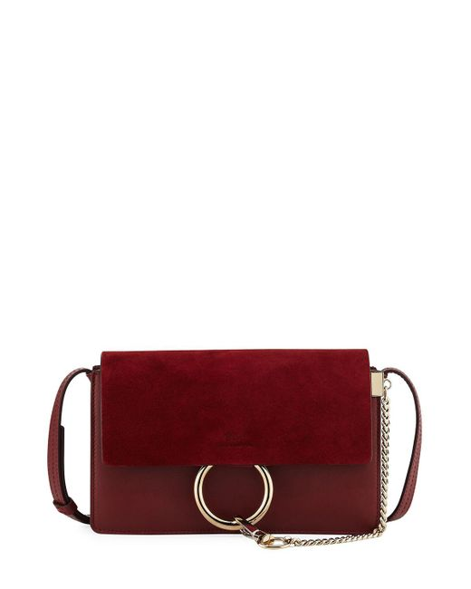 Chloé - Brown Faye Small Suede/leather Shoulder Bag - Lyst