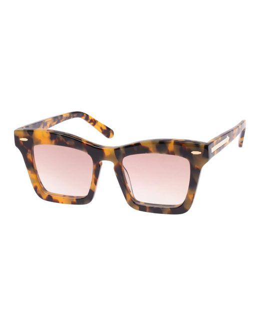 Karen Walker - Brown Banks Rectangle Acetate Sunglasses - Lyst
