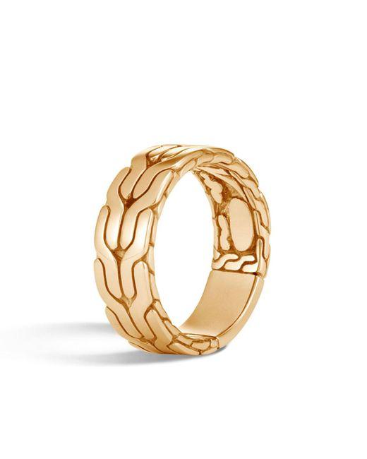 John Hardy - Metallic Men's Classic Chain 18k Ring for Men - Lyst