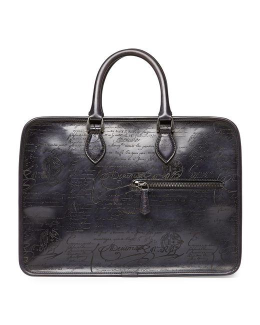 Berluti - Black Scritto Leather Briefcase for Men - Lyst