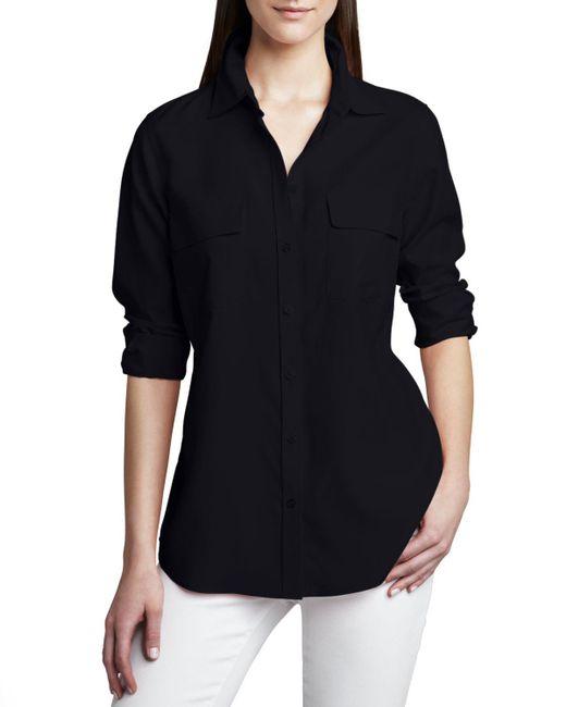 Go> By Go Silk | Blue Safari Long-sleeve Silk Shirt | Lyst