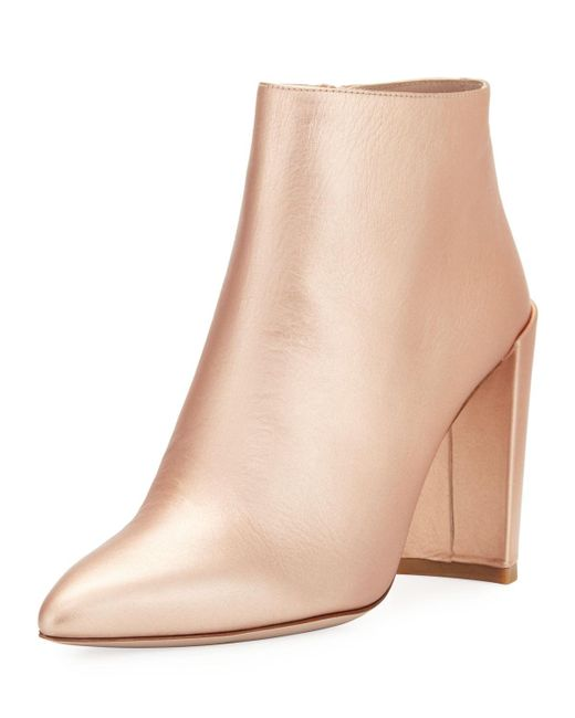 Stuart Weitzman - Multicolor Pure Crinkled Napa Leather Bootie - Lyst