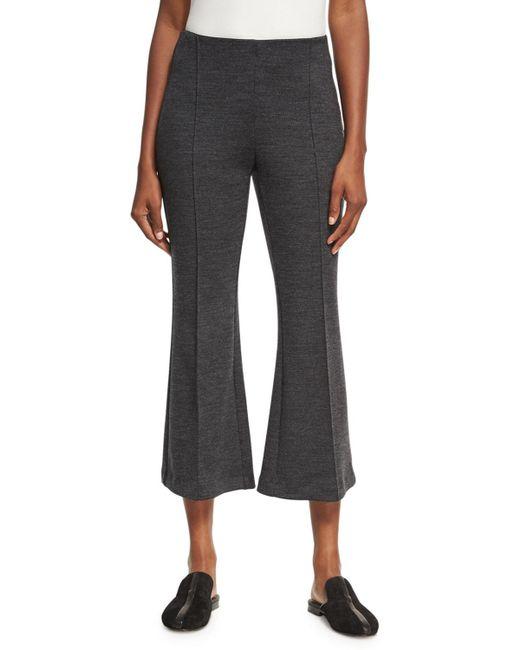 Rosetta Getty   Gray Mélange Wool Flare-leg Pants   Lyst