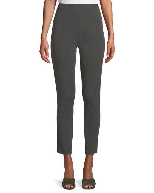 Misook Multicolor Plus Size Knit Ankle-zip Legging Pants