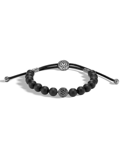John Hardy - Black Men's Classic Chain Sterling Silver & Onyx Bead Bracelet for Men - Lyst